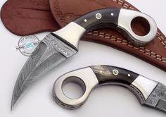 Custom Made Beautiful Damascus Double Edge Karambit Hunting Knife (FSL-067-20) #UltimateWarrior