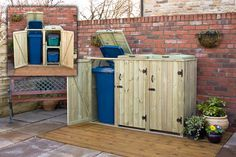 wheelie bin shed build your own - Google Search