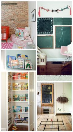 Some great ideas here - love the shelves in the corner behind the door