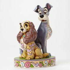 "Cupid was right after all. ""OPPOSITES ATTRACT"" - LADY AND THE TRAMP FIGURINE Jim Shore Disney Traditions #Disney #JimShore"