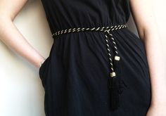 DIY Cinturón de borlas - anna • evers - DIY Fashion blog