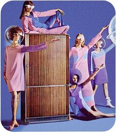 Space-Age Refrigerator, 1965 by MewDeep, via Flickr  (please follow minkshmink on pinterest)
