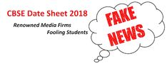 Competitive Exam Informer: CBSE Date Sheet 2018 – Renowned Media Firms Foolin...