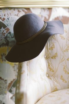A black floppy hat is a must-have accessory this fall.