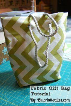 Fabric Gift Bag Tutorial by Bluprint Textiles, via Flickr
