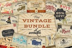 AWESOME RESOURCE!!! Vintage Bundle of Wonder by Eclectic Anthology on @creativemarket