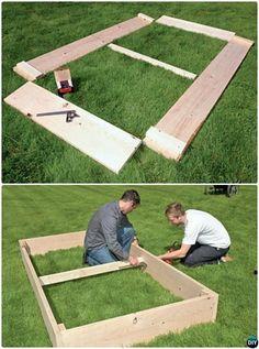 DIY Simplest Raised Garden Bed Plan Instruction-20 DIY Raised Garden Bed Ideas Instructions  #Gardening, #Woodworking #RaisedGarden