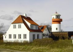 Hov Fyr (Lighthouse) near Hov at the northeast top of the island of Langeland in Denmark