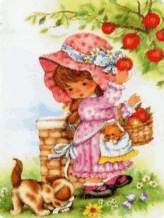 illustrations divers enfants 2 - Page 4 Illustration Mignonne, Cute Illustration, Images Vintage, Vintage Pictures, Vintage Greeting Cards, Vintage Postcards, Cute Images, Cute Pictures, Sarah Key
