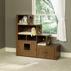 Pet Bookcase Climber and litter box