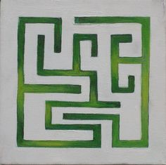 maze - love the subtle toning of the green