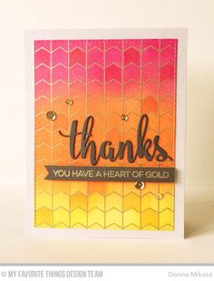 three umbrellas: MFT September Release Countdown Day 4 - gold heat embossed and distress inks