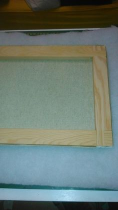 2. Poner el lienzo sobre la guata