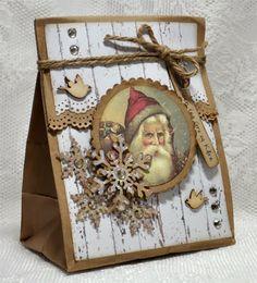 Crafty Catz: Winner post and Top 3 Christmas Paper Crafts, Homemade Christmas Cards, Christmas Cards To Make, Vintage Christmas Cards, Xmas Cards, Christmas Projects, Vintage Cards, Homemade Cards, Handmade Christmas