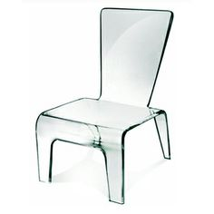 All acrylic chair...looks like a paper doll chair!