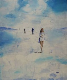 "Saatchi Art Artist OSCAR ALVAREZ; Painting, ""Walks through the sky -21"" #art"