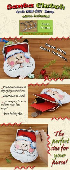 SANTA CLUTCH Embroidery Designs Free Embroidery Design Patterns Applique