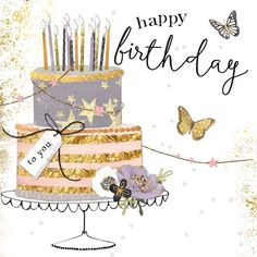A Beautiful Card for One you Love Happy Birthday Greetings Friends, Happy Birthday Notes, Happy Birthday Flower, Happy Birthday Friend, Birthday Blessings, Happy Birthday Pictures, Birthday Wishes Quotes, Happy Birthdays, Happy Birthday Illustration