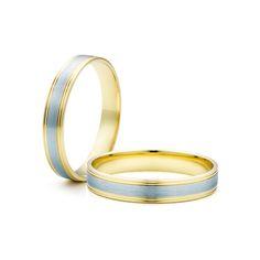 SAVICKI - Obrączki ślubne: Obrączki z dwukolorowego złota (Nr 294) - Biżuteria od 1976 r.
