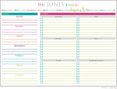 Personalized Meal Planning and Shopping List Printable. $3.00, via Etsy.