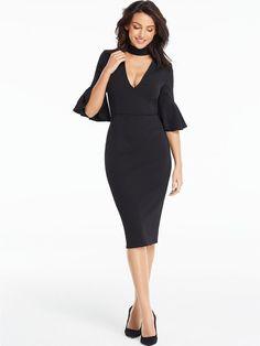 Michelle Keegan Fluted Sleeve Bodycon Midi Dress, http://www.very.co.uk/michelle-keegan-fluted-sleeve-bodycon-midi-dress/1600184567.prd