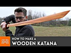 How to make a Wooden Katana from hardwood flooring // Woodworking - YouTube