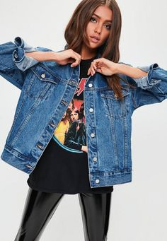 537 items - Be a badass with a good ass with the denim collection from Missguided. Denim shirts, denim dresses, denim skirts & jeans with free returns Denim Shirt Outfit Summer, Denim Jacket Outfit Winter, Oversized Denim Jacket Outfit, Denim Oversize, Denim Outfit, Denim Fashion, Fashion Outfits, Fashion 101, Jeans Bleu