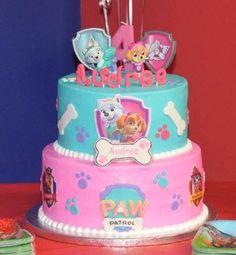 Audree's Paw Patrol Birthday cake.   #pawpatrol #everest #skye