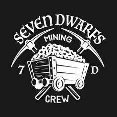 Shop Seven Dwarfs Mining Crew - Dark snow white t-shirts designed by TheDIS as well as other snow white merchandise at TeePublic. Disney T-shirts, Disney Tees, Disney Style, Disney Love, Disney Fonts, Disney Halloween Shirts, Cricut Tutorials, Cricut Ideas, Disney Images