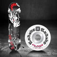 Roller Derby Labeda Pro Series Skateboard - LAB-55 (White Dragon - 31 x 7.75)