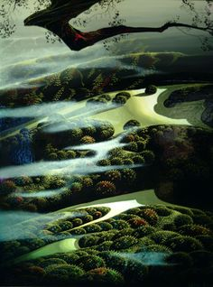 Carmel Valley Memory, oil on canvas, Eyvind Earle.