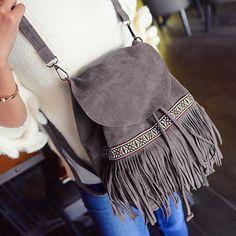 Национальный стиль бахромой и дизайн обложки Женская сумка