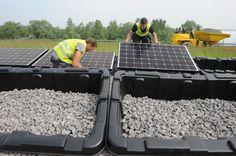 Installation de panneaux photovoltaïques sur la Décharge d'Hensies #spaque #remediation #rehabilitation #landfills #decharge #renewableenergy #energierenouvelable