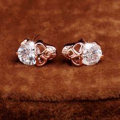 Heart Shaped Skull Earrings - GothRider.com