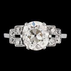 Antique 3 ct. diamond ring