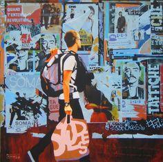 "Saatchi Online Artist: Alan Kinsey; Acrylic, Painting ""TORN POSTER #30"""