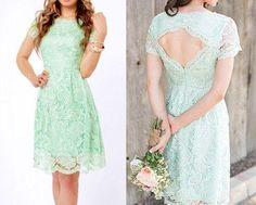 2015 Lace Mint Green Bridesmaid Dresses Knee Length Short Cap Sleeves Wedding Guests Dresses Keyhole Back Maid Of Honor Dresses Black Junior Bridesmaid Dresses Bridesmaid Dress