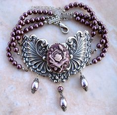 Purple Gothic Choker
