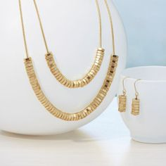 Two-Strand Necklace and Earring Set from Monroe and Main.