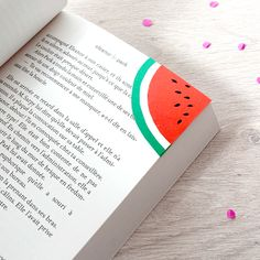 BlueCoton: Watermelon bookmark
