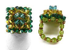 Schéma de bague en perles n°046, Bagues en perles, Schémas (