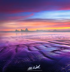 Ripples reflect the colors of the sky by Chris  Williams Exploration Photography on 500px