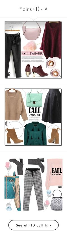 """""""Yoins (1) - V"""" by dorinela-hamamci ❤ liked on Polyvore featuring outfit, chic, fab, yoins, Martha Stewart, fallsweaters, yoinscollection, loveyoins, Minime and metallicdress"""