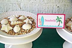 Seashell chocolates from a Hawaiian Luau Birthday Party on Kara's Party Ideas | KarasPartyIdeas.com (10)
