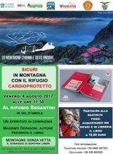Venerdì 4 agosto al rifugio Segantini con il progetto rifugio cardioprotetto. Presentazione del libro Montagne senza Vette con l'autore Massimo Dorigoni