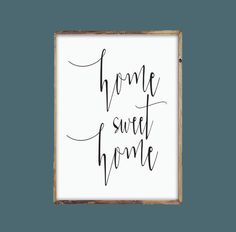 Apartminty Fresh Picks: If These Walls Could Talk | Home Sweet Home Print