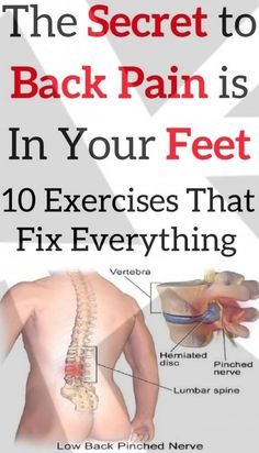 People usually treat back pain with painkillers, but they have numerous adverse side-effects, which is why you should try to reduce pain in other ways. The Secret to Back Pain is In Your Feet! The 10 Exercises That Fix Everything! Foot Exercises, Sciatica Exercises, Back Pain Exercises, Sciatica Pain, Sciatic Nerve Relief, Neck Stretches, Health And Fitness Articles, Health Fitness, Nerve Pain
