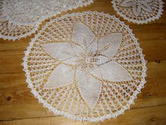 SALE Set of 7 handmade knitted doilies SALE see by BeadingWay