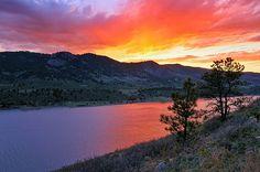 Horsetooth Glow, Mountain View, Colorado