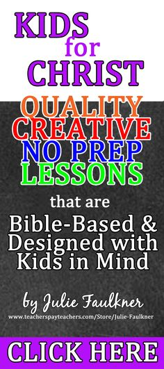 Kids for Christ | Bible Lessons for Prek-1st | Lessons, Coloring Pages, Crafts | No Prep | Holiday Themes